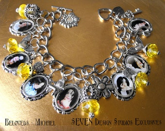 Beloved Series - MICHAEL- Link Chain Version with Crystals and Charms