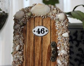 3 Miniature Wood Fairy Hobbit Doors with Shells-Reserved for Meg