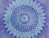 Net of Light Mandala-  archival print on photo paper