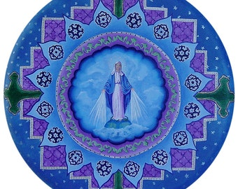 Divine Mother Mary Mandala-  archival print on photo paper