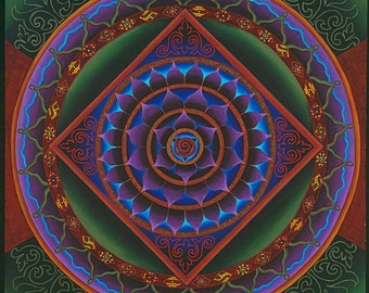 Gather the Women Mandala-  archival print on photo paper