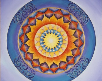 Rebirth Mandala-  archival print on photo paper