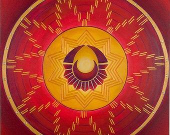 The Sun Celebrates the Moon Mandala-  archival print on photo paper