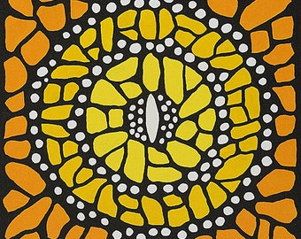Monarch Mandala-  Original Acrylic on canvas