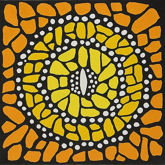 Monarch Mandala-  Original Acrylic on canvas