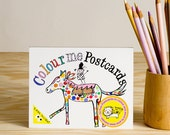 Colouring Postcard Booklet
