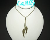 Antique Brass Angel Wings Necklace