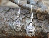 15% OFF Silver Buddha Earrings