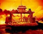 Ferry train Detroit - Steampunk style