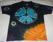 Tie dyed T-Shirt Peace On Earth.