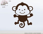 Monkey wall decal. Cute monkey wall decal for nursery, play room. Best for the jungle theme.