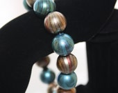 Get rid of the winter blues with a teal and spring pastel bracelet
