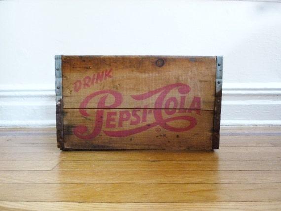 Pepsi Cola Wood Crate
