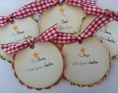Set of 5 Personalized Christmas Gift Tags