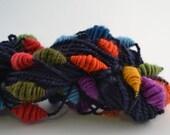 A Happy Rainbow handspun beehive art yarn - 78 Yards