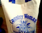 Country Woman Famers Market Tote Bag...SOLD
