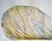 Nature Seed Art - Original Watercolor Maple Seed, 20 x 24 in. Matted with natural wood frame - Ready to hang by Heather McCaw
