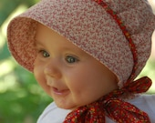 Calico Baby Bonnet with Color Options
