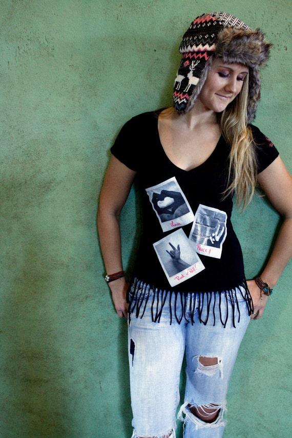 Sign Language Fringe T-Shirt