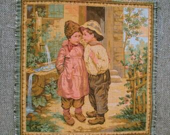 Vintage tapestry panel 05