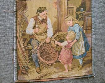 Vintage tapestry panel 06