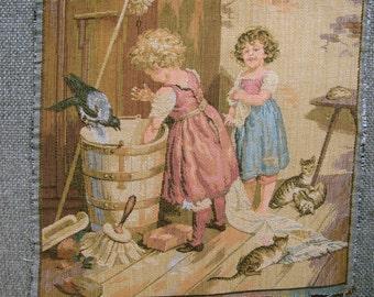 Vintage tapestry panel 07