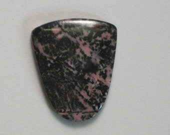 Rhodonite Pink and Black Cabochon SALE