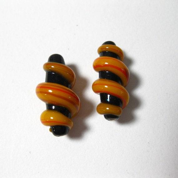 Lampwork Glass Beads Two Matching B201146