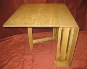 solid quartersawn white oak space saver drop leaf table