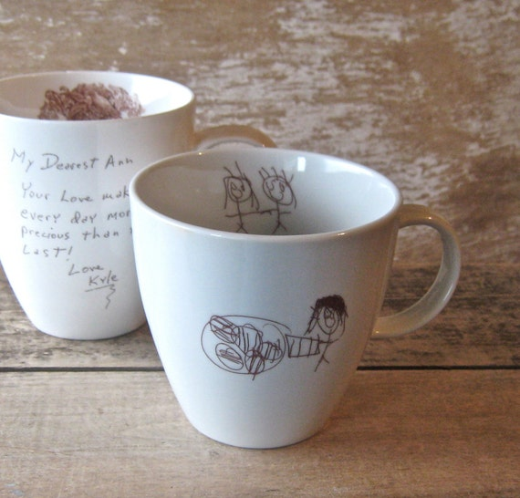 Your Child's Drawing Mug MADE TO ORDER Personalized