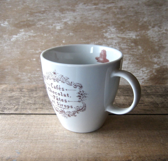 Mug with French Chocolate Labels Left or Right Handed