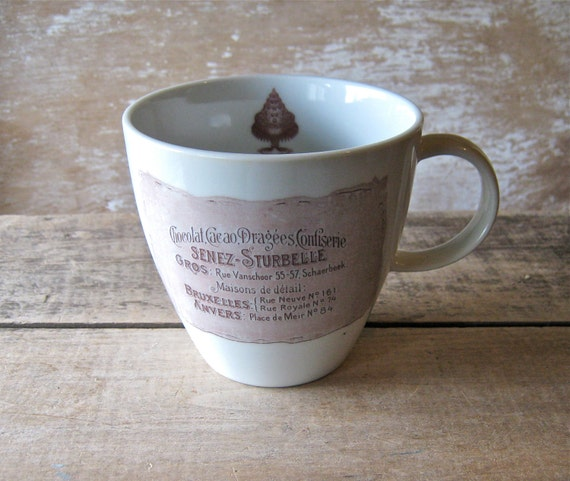 Mug with French Chocolate Labels