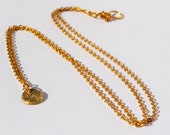 Handmade 24k gold, sparkly disc pendant, 1mm round cable chain, handmade clasp, summer simplicity. Delicate, feminine, great for layering.