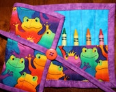 Froggy Crayon Roll Up