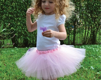 Primrose Pink Sewn Tutu in Multiple Sizes, 8-inch Long, Ready to Ship.