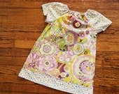 Girl's Watercolor Flower Pocket Dress--Size 5--READY TO SHIP--Reduced Price!!