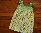 Girl's Garden Party Flutter Dress--18m--READY TO SHIP--Reduced Price!!