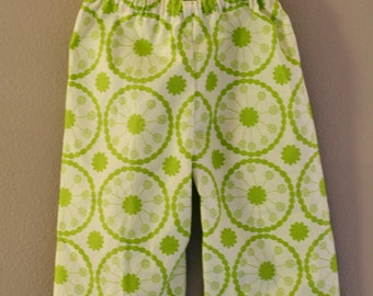 Green Blooms Baby Butt Pants--Size 18M--READY TO SHIP--Reduced Price!!