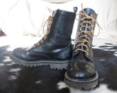 Beat Street Lace Up Docs-inspired Vegan Boot size 9 - 10