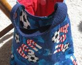 Small USA Soccer Tote bag