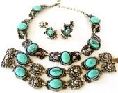 Parure Southwest Necklace Bracelet Earring Set