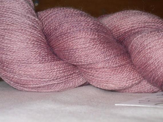 Lace weight, merino/silk yarn