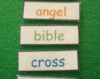 ABC Order - For FELT Board or LAMINATED - Kids Bible Education - Alphabetical Order, Alphabetizing, Christian Learning, Homeschool, Toy