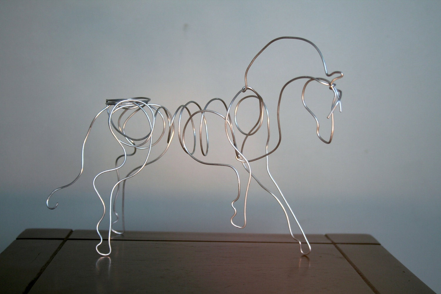3d prancing horse ornament hand made wire sculpture for How to make a wire sculpture