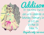 Custom Girl Birthday Invitation