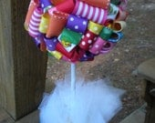 Ribbon Topiary in Sesame Street Theme in Rainbow of Colors Party/Shower Decoration/Centerpiece: Small Size