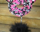 Ribbon Topiary in Hot Pink, Zebra, Black Party/Shower Centerpiece/Decoration- Large Size- Perfect for Minnie Mouse