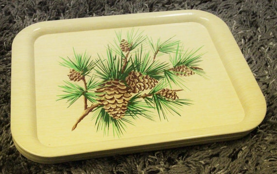 Vintage Metal Pinecone Tray