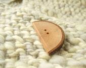 Half Round Birch Branch Button