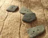 Retangle Beach Stone Buttons (4)